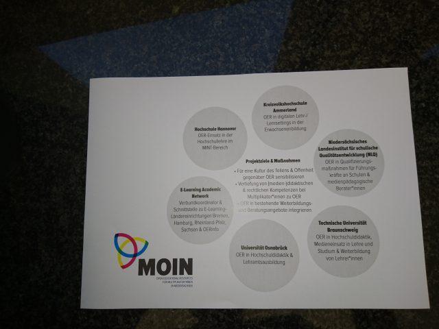 """Schematische Schwerpunkt-Darstellung des OERInfo-Projekts """"Moin"""""""